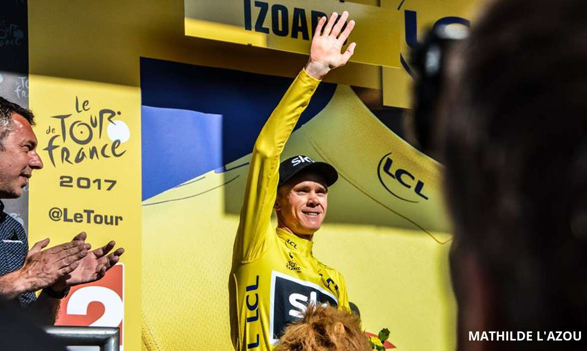 chris froome maillot jaune tour de france