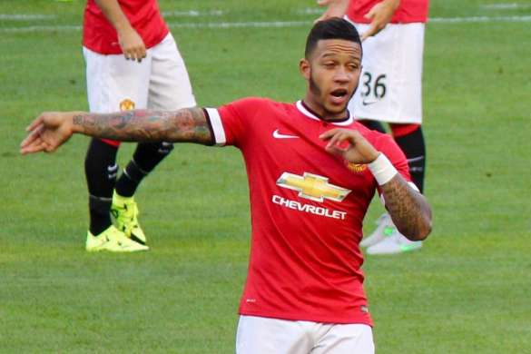 memphis depay manchester united football 2015