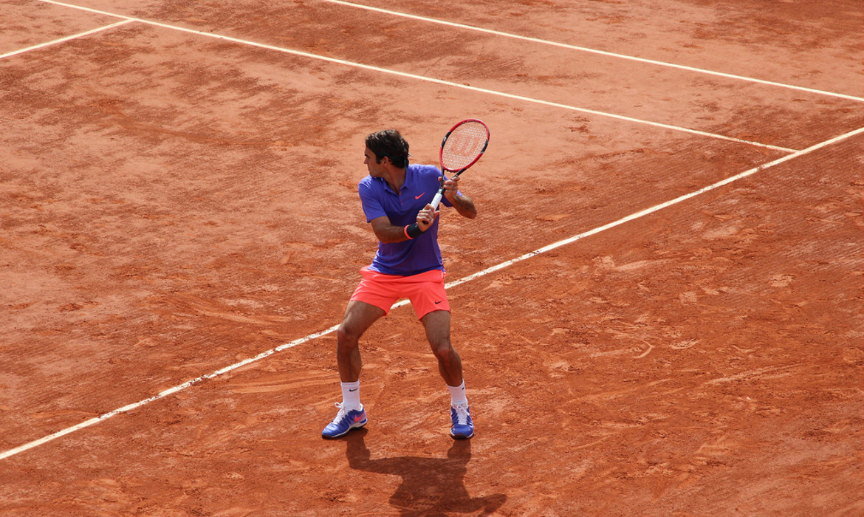 roger federer tennis terre battue