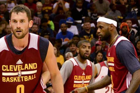 kevin love lebron james cleveland cavaliers