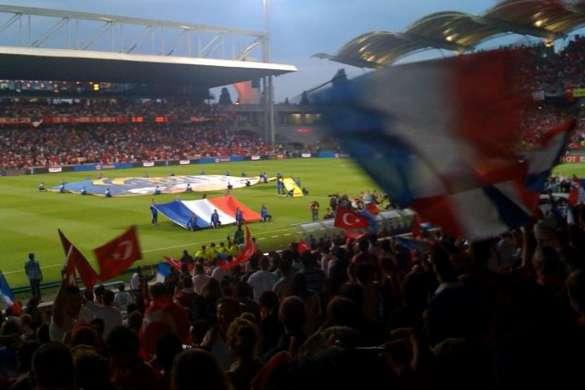 stade de gerland foot equipe de france turquie 2009