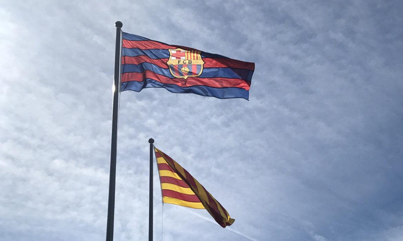 drapeau fc barcelone catalogne football liga