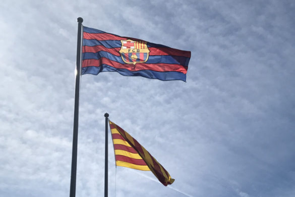 drapeau fc barcelone catalogne football liga
