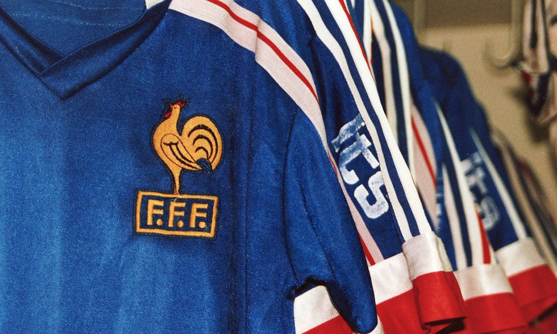 fff football maillot vintage bleus