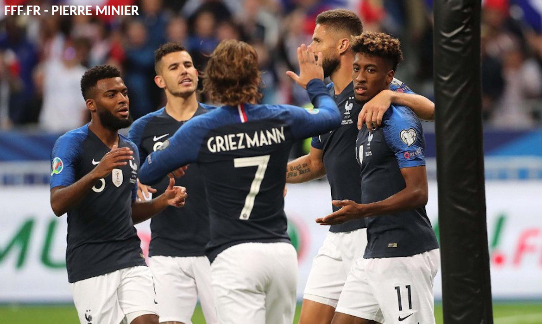football equipe de france griezmann coman
