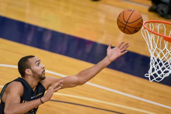 rudy gobert basketball us air force U.S. Air Force photo by Paul Holcomb