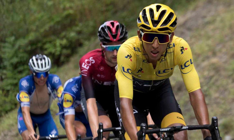 egan bernal cyclisme tour de france maillot jaune team ineos