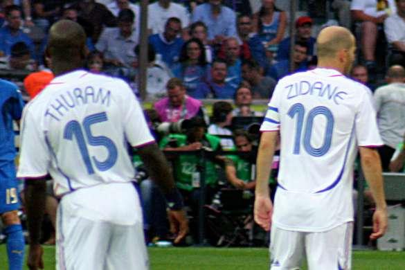 france italie 2006 equipe de france foot zidane thuram