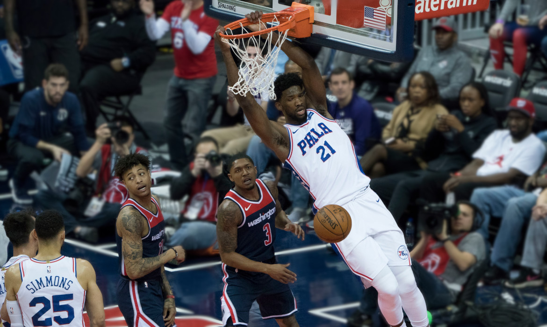 joel embiid nba sixers philadelphie basket americain 2018