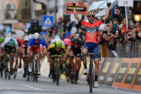 vincenzo nibali cyclisme bahrain merida world tour milan san remo