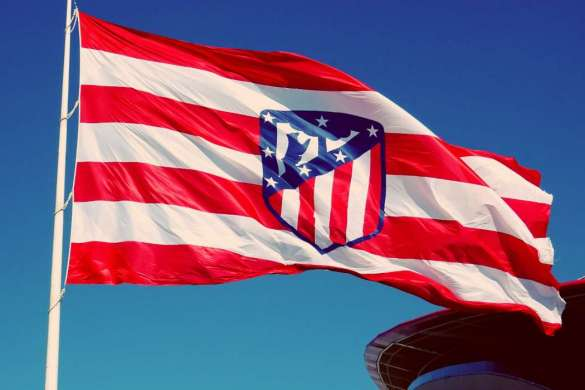 atletico madrid drapeau illustration