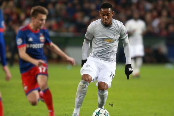 Anthony Martial manchester united premier league ligue des champions