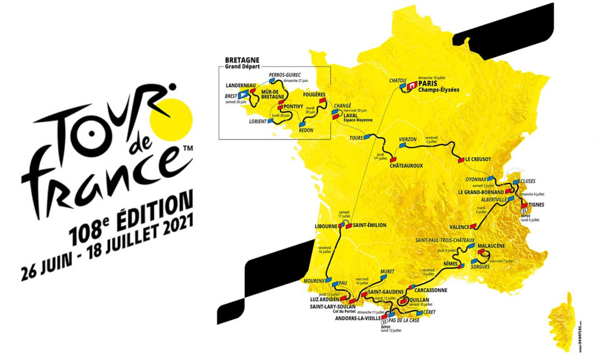 tour de france 2021 parcours officiel