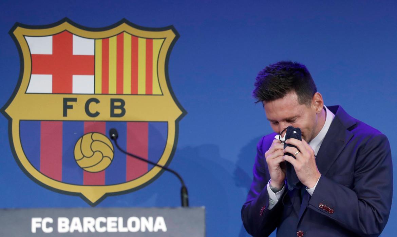 lionel messi pleurs fc barcelone